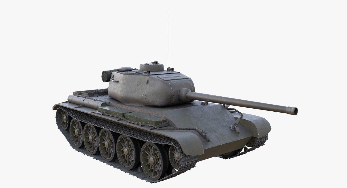 3D soviet tank t-44 model
