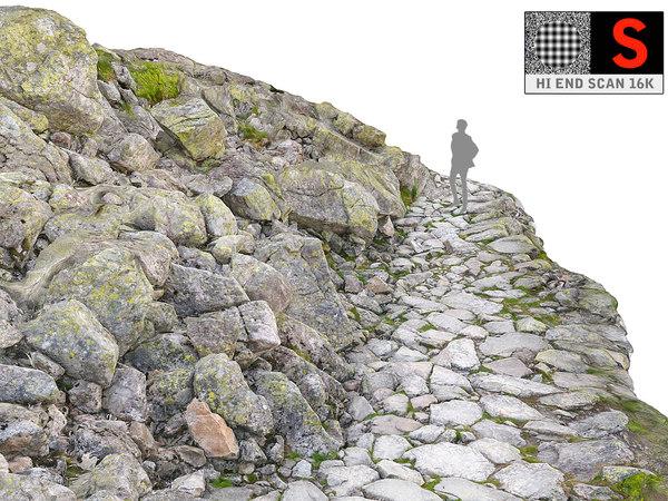 3D model mountain road