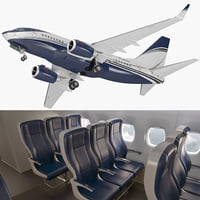 3D boeing 737-600 interior generic model