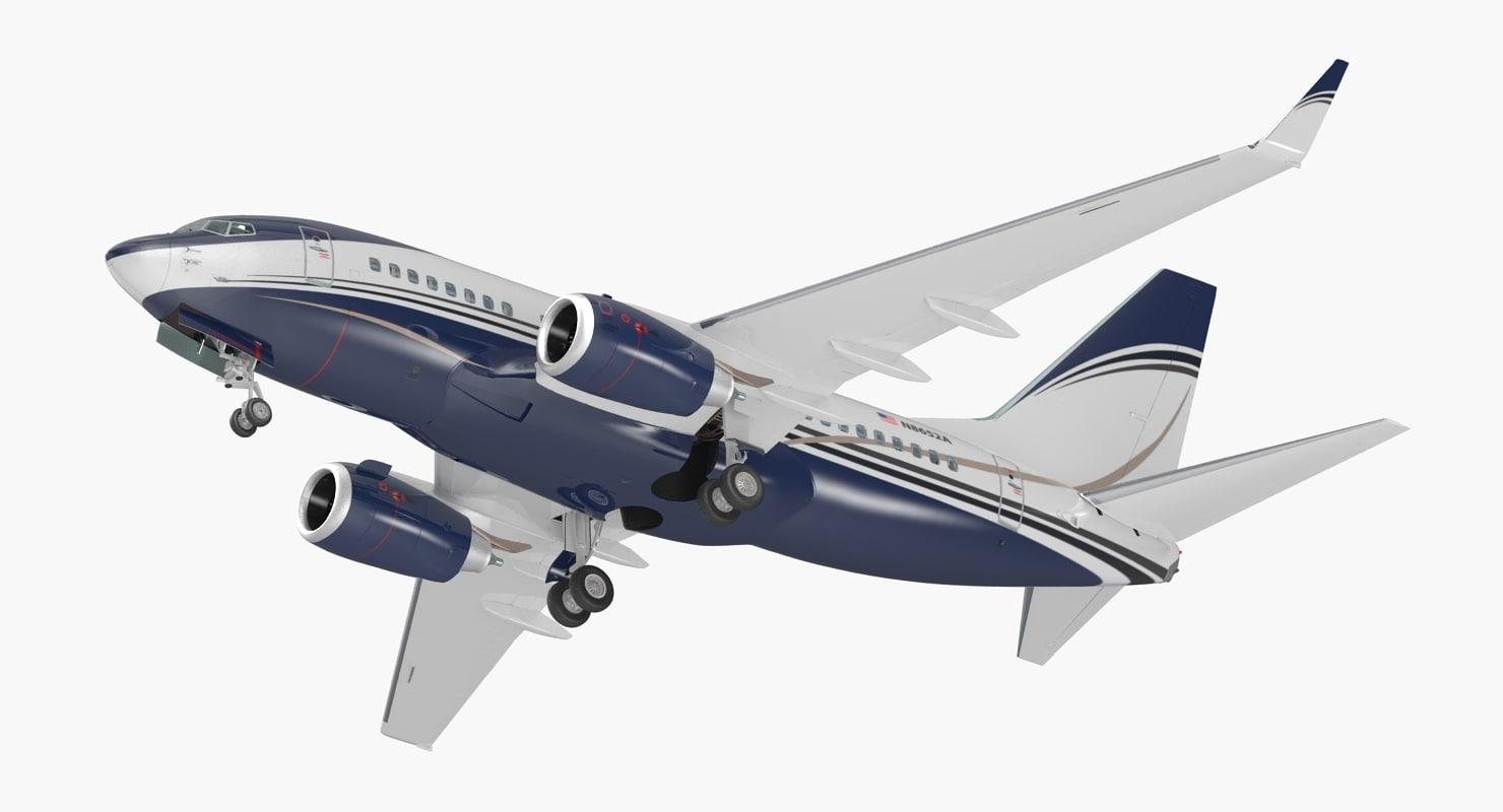 3D boeing 737-600 interior generic model