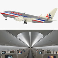 Boeing 737-600 with Interior American Airlines Rigged