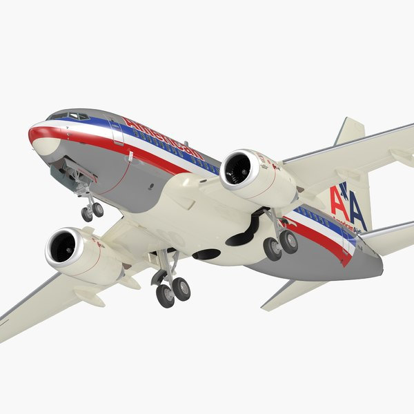 boeing 737-600 interior american airlines 3D model