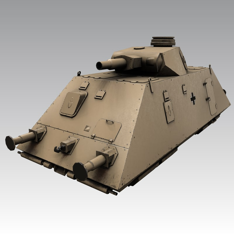 3D panzer draisine armored