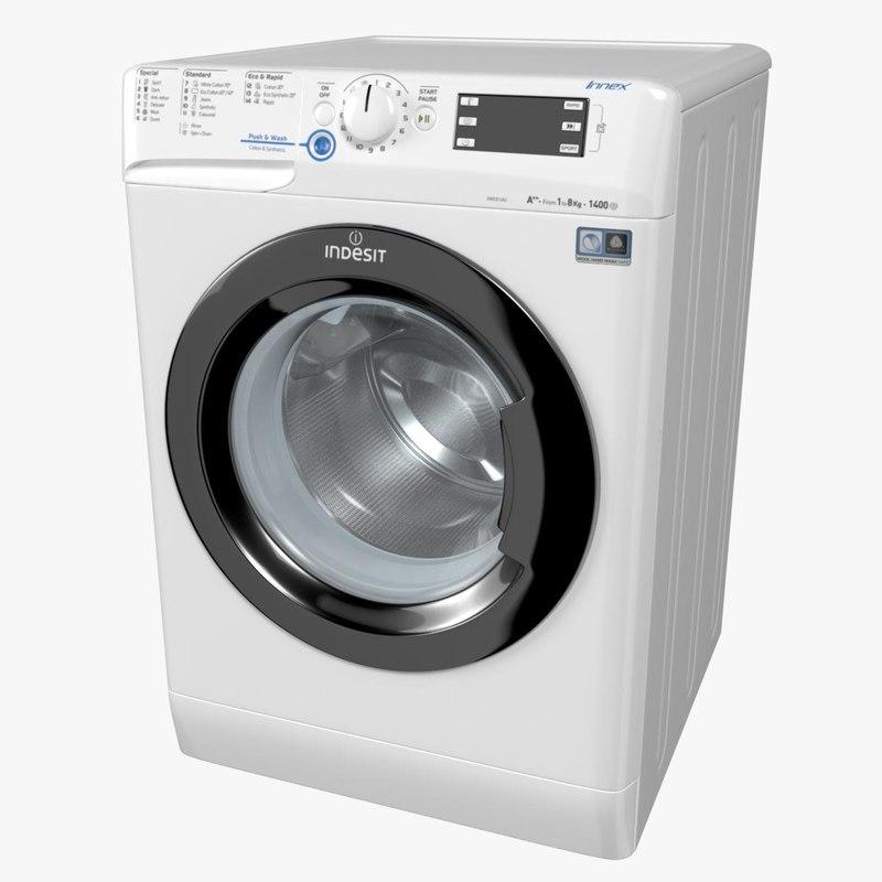 3D indesit innex washing machine