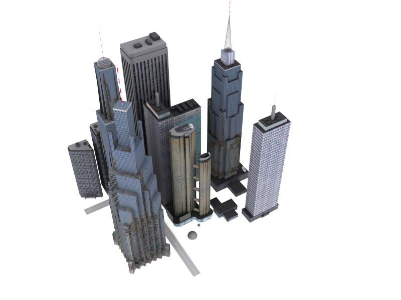 3D house city pack model