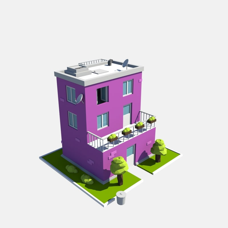 3D build purple