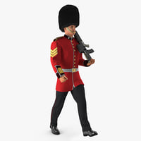 marching royal british guard model