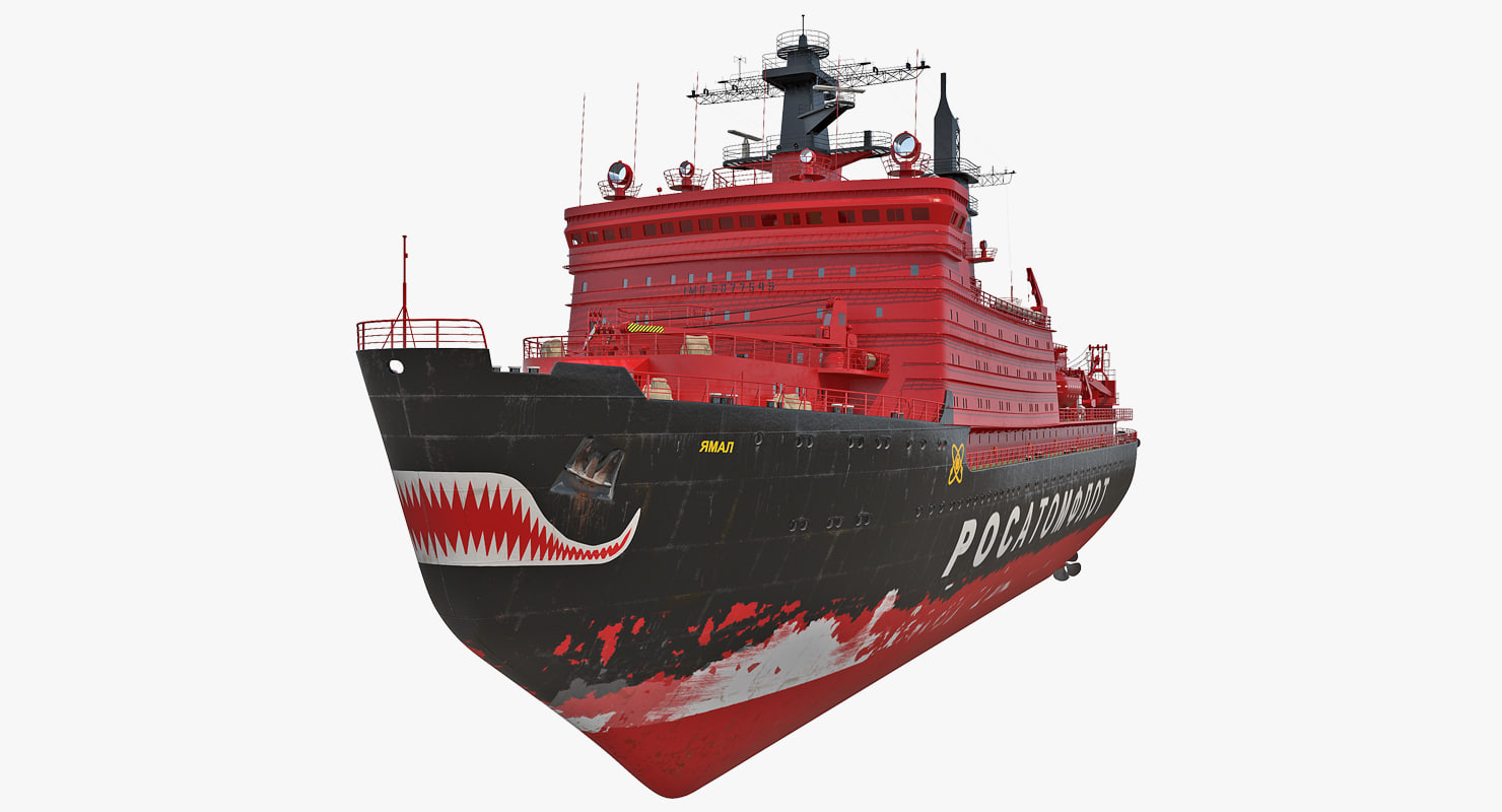 3D nuclear powered icebreaker yamal model