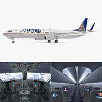boeing 737-900 interior united airlines model