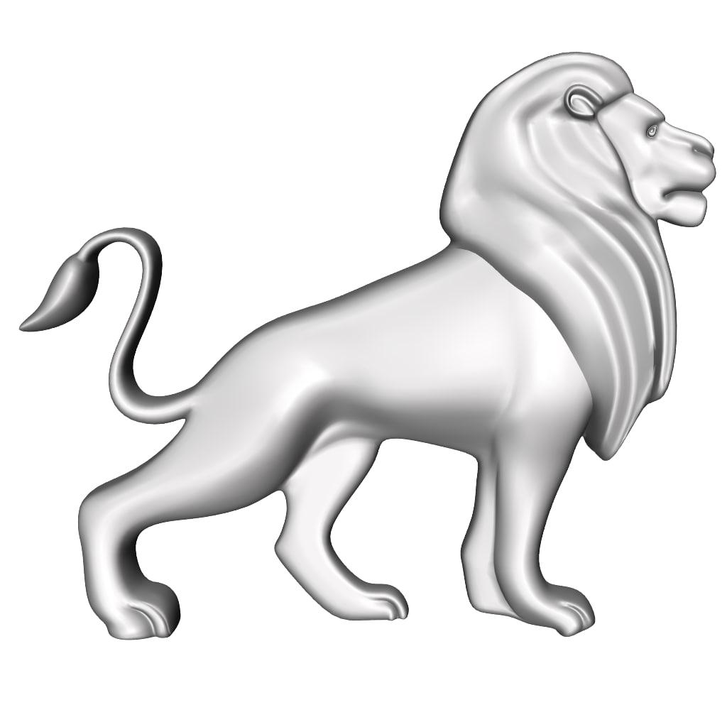 3D lion decor