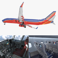 boeing 737-900 interior southwest 3D model