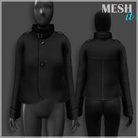 3D jacket black model