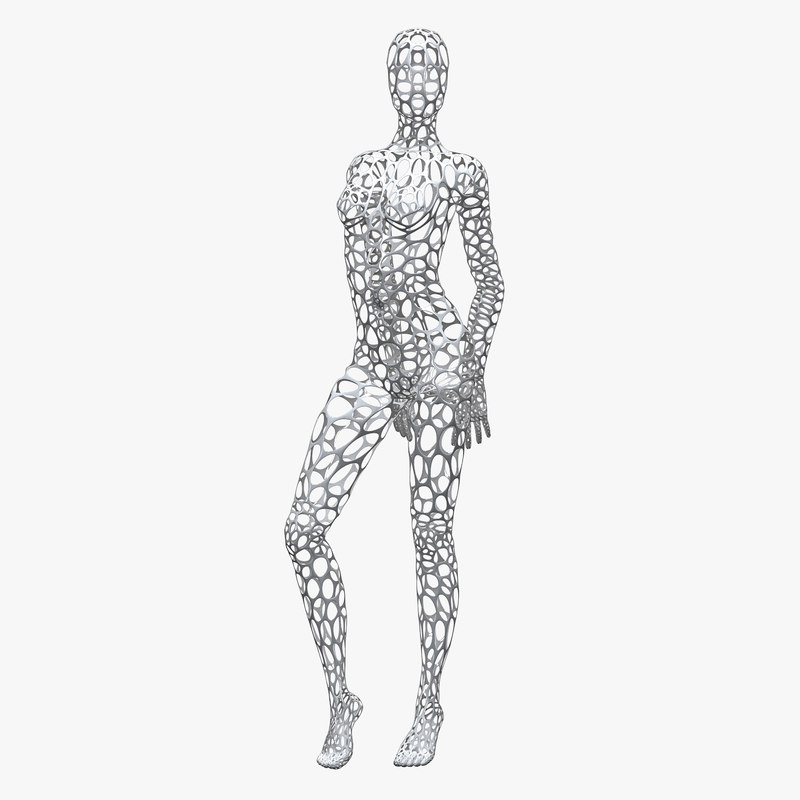 3D female wire mannequin - TurboSquid 1172010