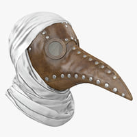 plague doctor mask 3D model