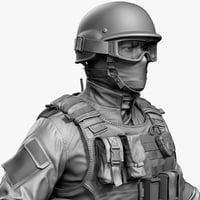 Police Special Force Officer Zbrush