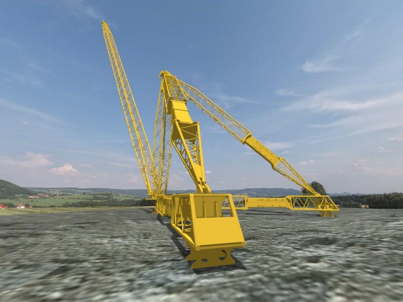35 derrick crane 3D model