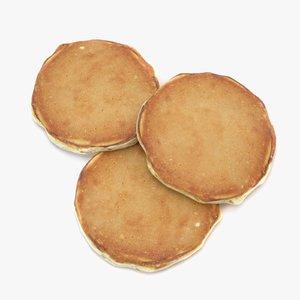 3D american pancakes model