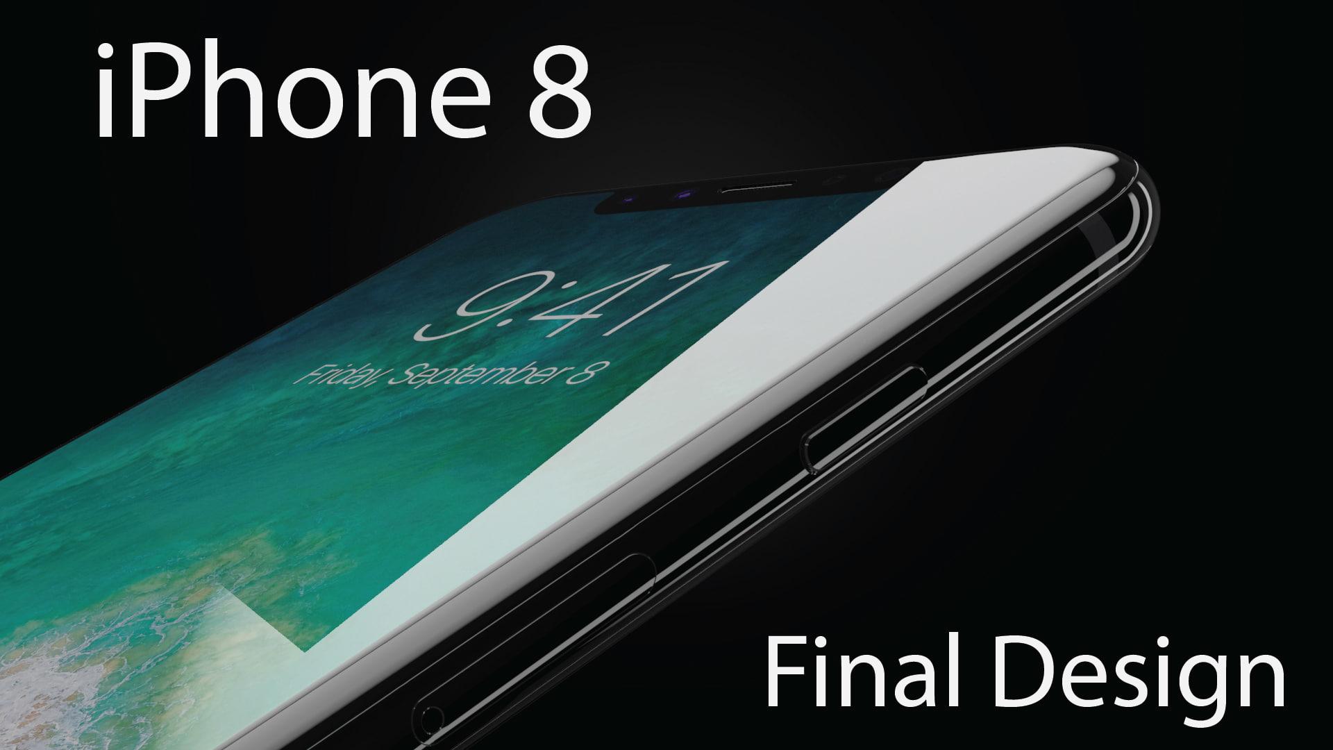apple iphone 8 colors 3D model