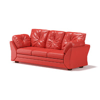red leather sofa 3D