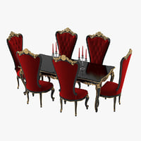 Fabulous & Baroque Absolom Roche Dining Table & Chair Set