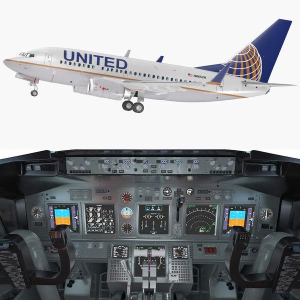 3D boeing 737 600 interior