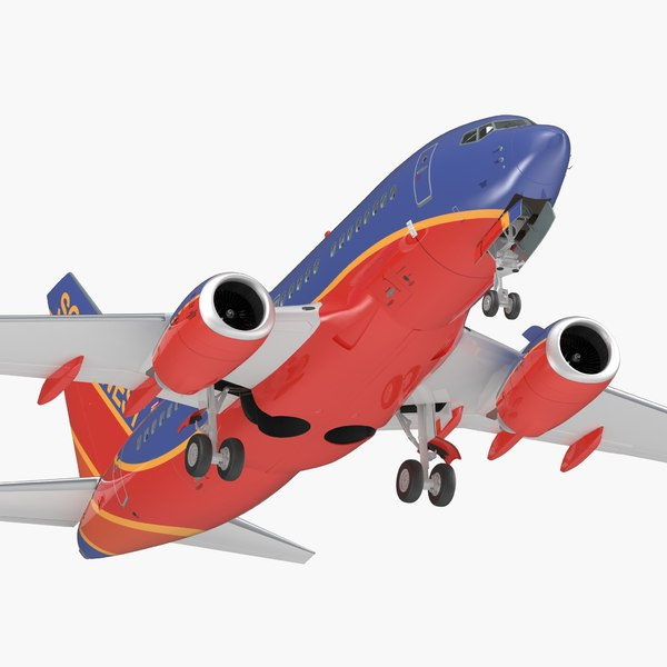 3D model boeing 737-600 interior southwest