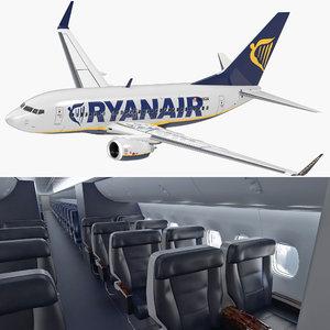 3D boeing 737-600 interior ryanair