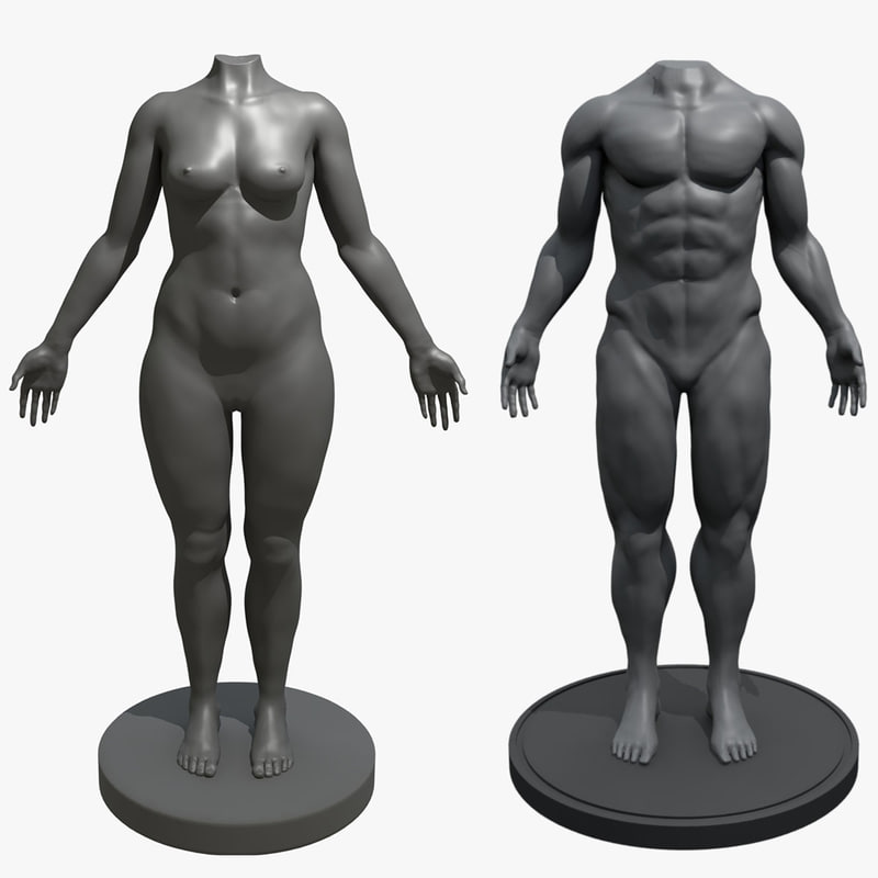 mannequin combo male female 3D