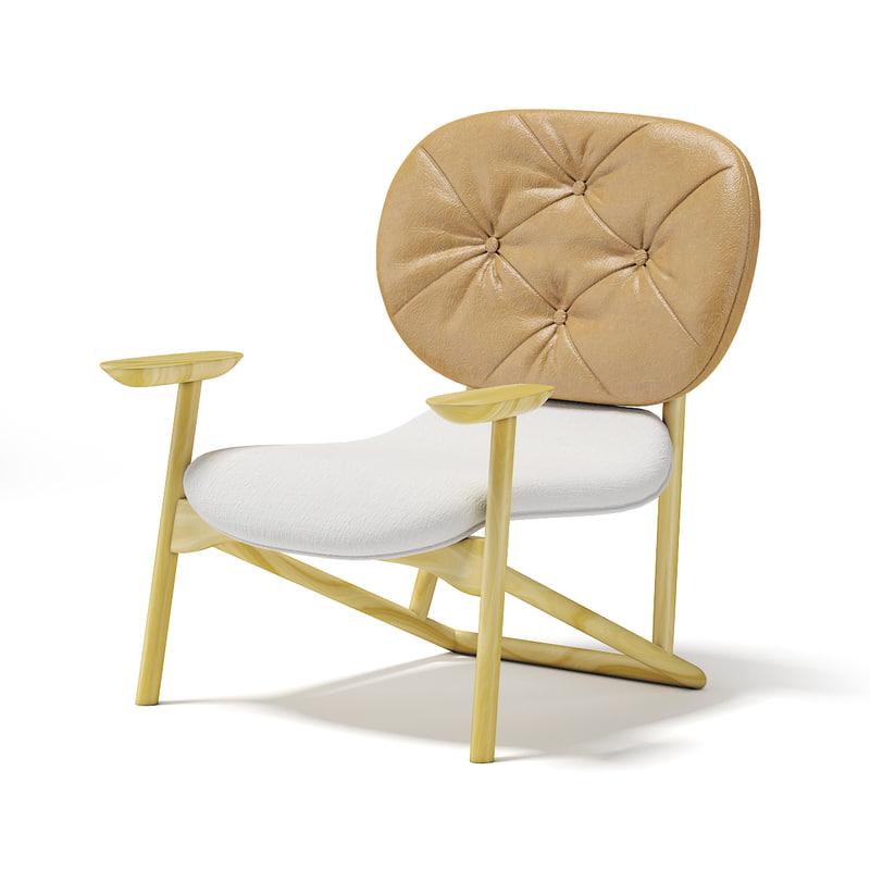 3D wooden armchair