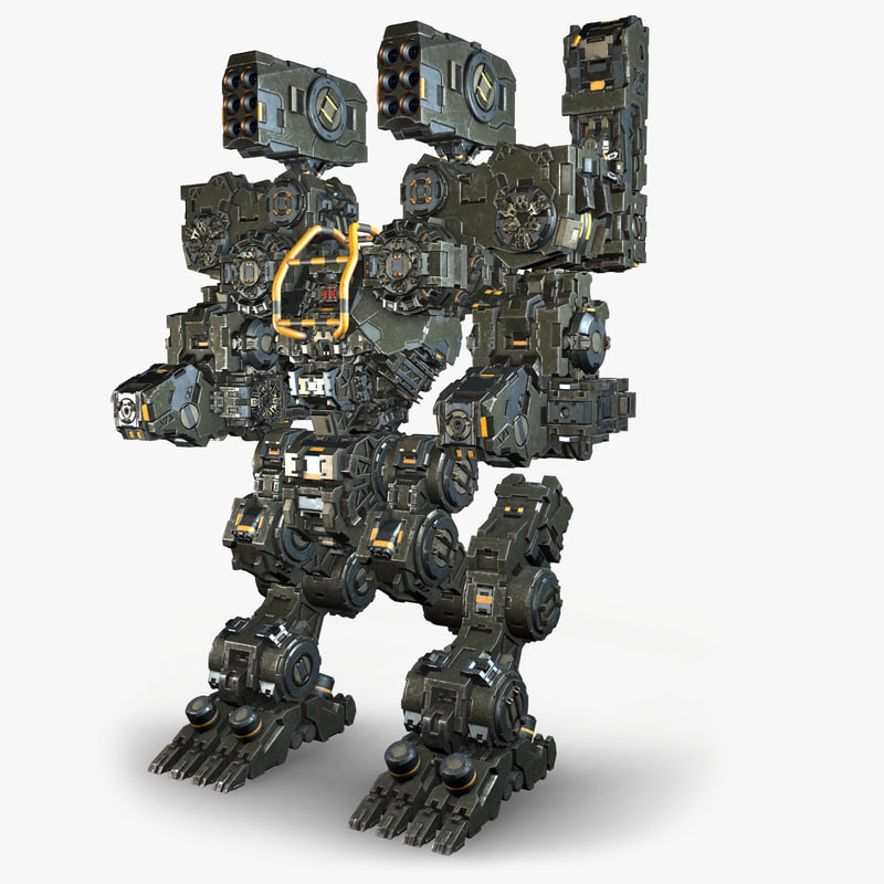 military robot mech warrior 3D