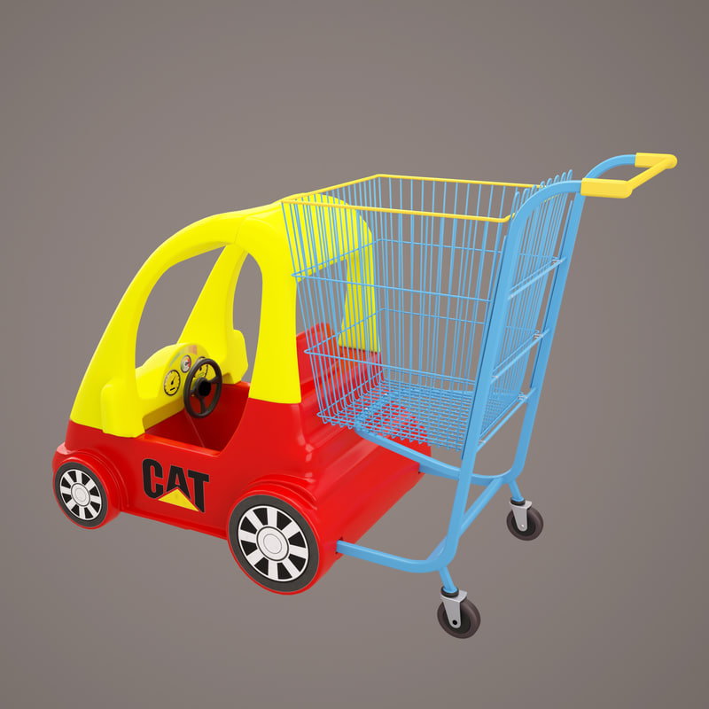 shop car cart 3D model