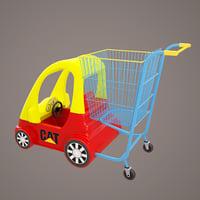 shop car cart 3D model