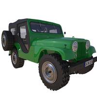 jeep cj-5 cj 3D model