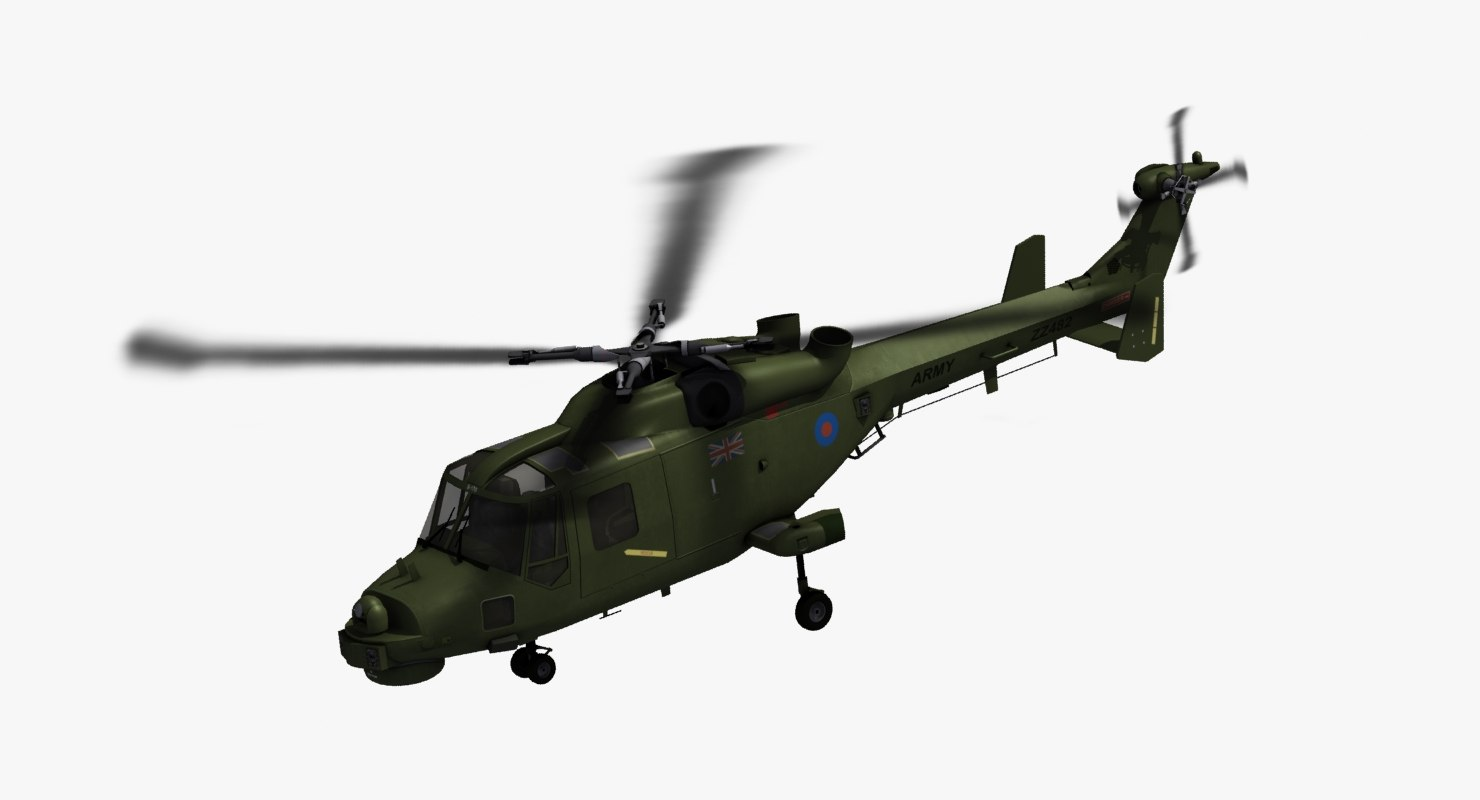 westland aw159 wildcat british army 3D