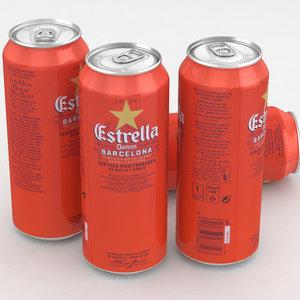 3D beer barcelona damm