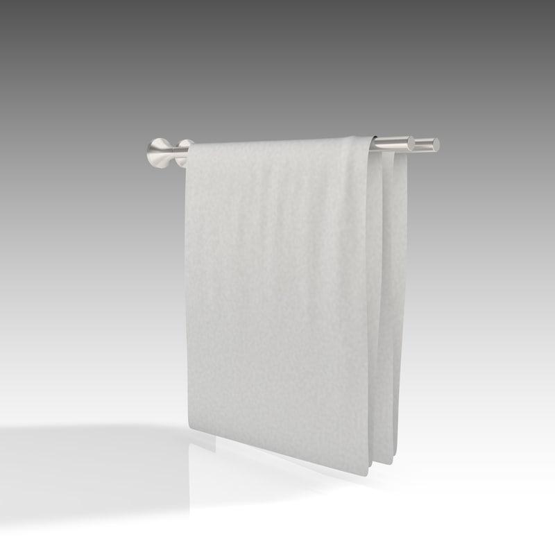 3D towel rail model