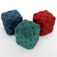 3D pouf classic chesterfield