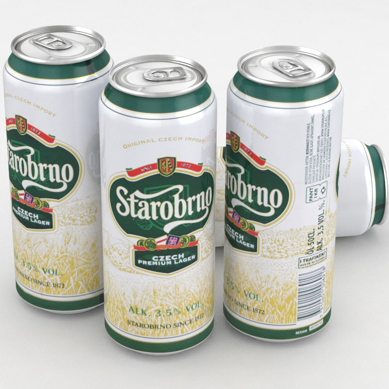 3D beer starobrno model