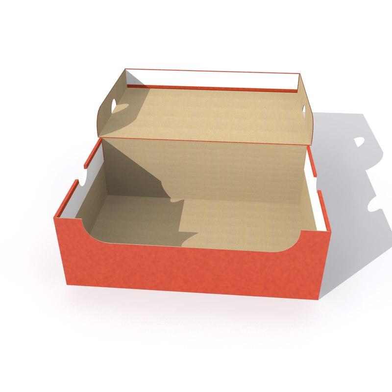 Attractive 3D nike shoe box model - TurboSquid 1172130 KE56