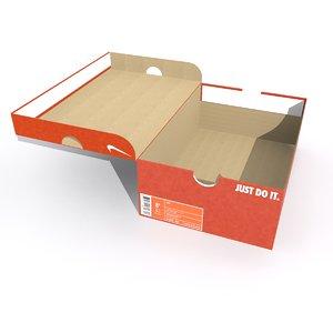 3D nike shoe box model
