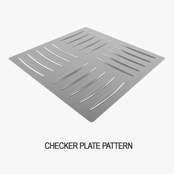 checker plate pattern 3D model