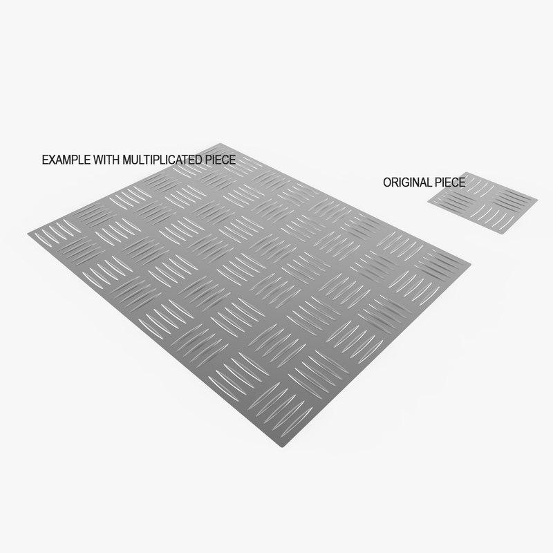 Checker Plate Pattern 3d Model Turbosquid 1172132