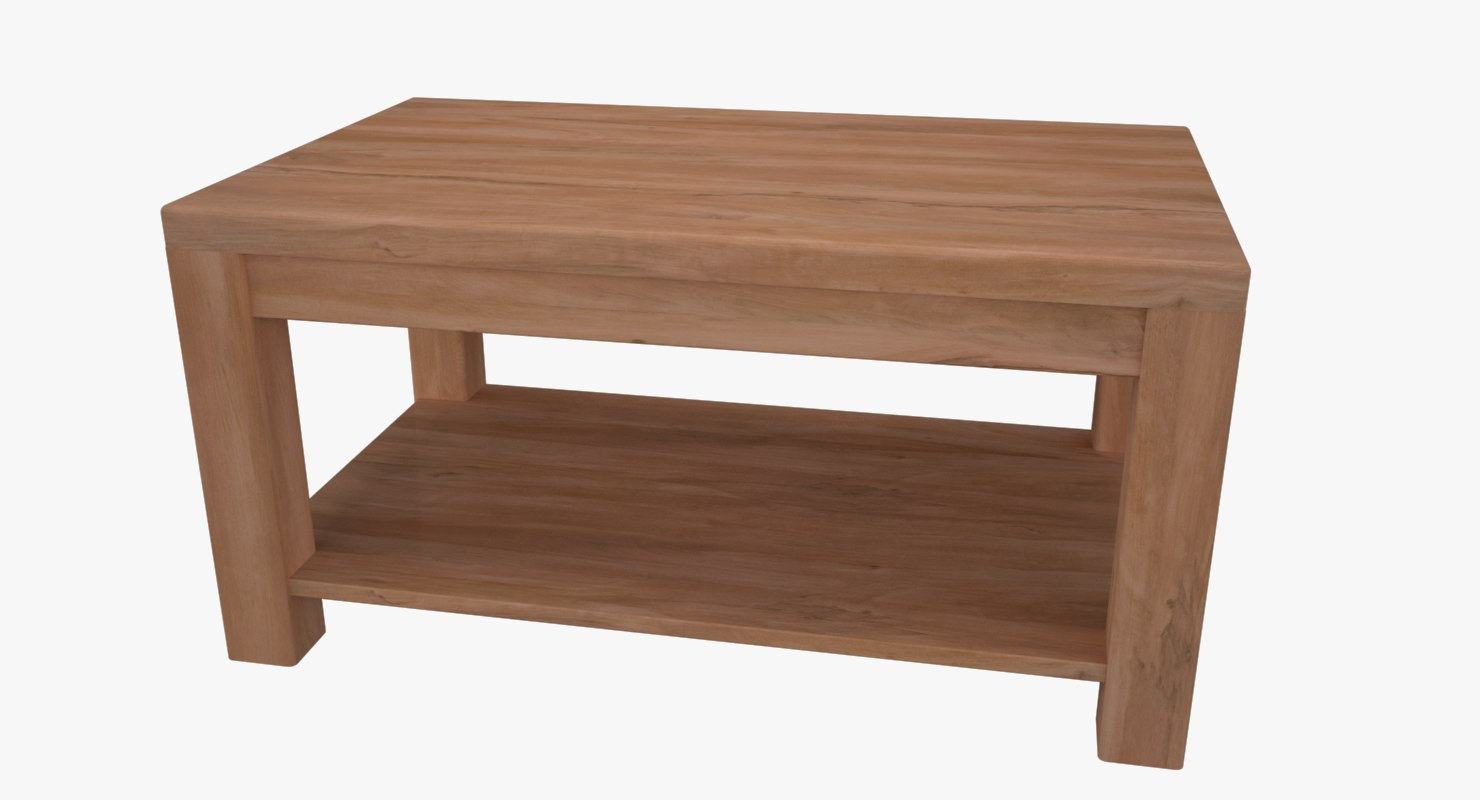3D table wooden wood