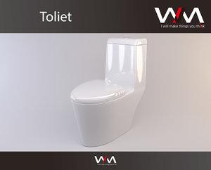 toilet ariel 3D