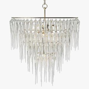 3D model currey company icecap chandelier