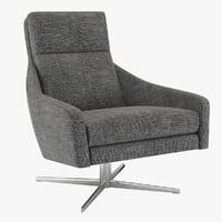 armchair austin swivel west 3D model