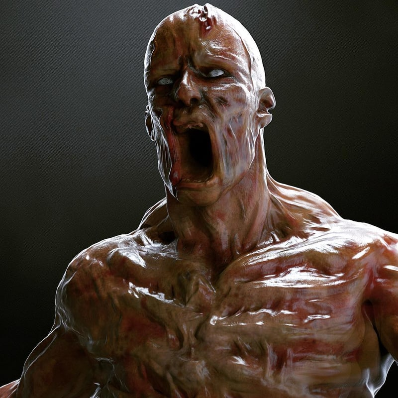 3D model zbrush rigged