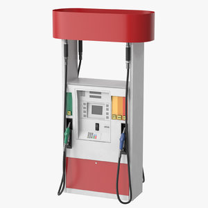 3D model petro station pump gas