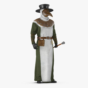plague doctor standing pose 3D