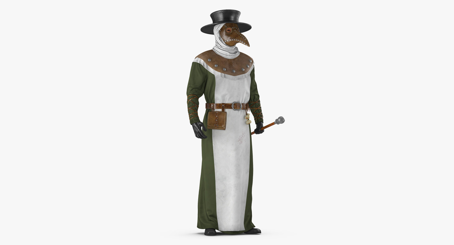 plague doctor standing pose 3D